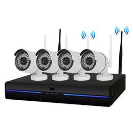 Canada 4CH HD sans fil 720P NVR 4 PCS 1.0MP IR Extérieur P2P Wifi IP CCTV Système de Surveillance de Système de Surveillance Kit cheap ip cctv surveillance system Offre