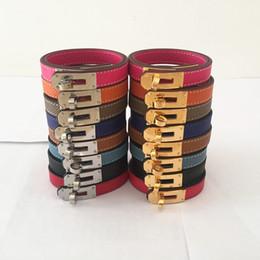 2019 doppellagige lederarmbänder Marke Punk Style Geniuin Leder Frauen Armband Mode Candy Farbe Doppelschicht Frauen BraceletBangle Drop Shipping günstig doppellagige lederarmbänder