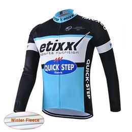 Vestuário térmico para bicicletas on-line-Etixx quick step Homens Esporte de Manga Longa Quick dry Ciclismo Velo Térmico jersey Bicicleta Camisa de Bicicleta Top Vestuário Desgaste maillot ciclismo