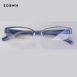 papillons encadrés pas cher Promotion Mélanger en gros pas cher dame lunettes demi-cadre lentes opticos Marque De Mode Designer papillon monturas de gafas pour myopie
