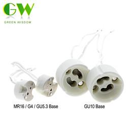 porte-lampe gu5.3 Promotion Lampe Base GU10 / MR16 G4 GU5.3 Porte-lampe Base Connecteur En Céramique Socket Pour LED Halogène Lumière 5 Pcs / Lot