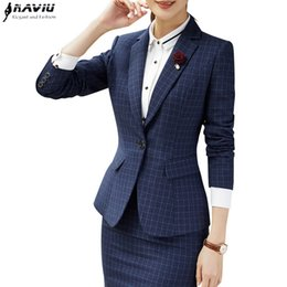 5b42b647d0bdd Plaid blazer women fashion clothes winter Korean temperament business long  sleeve slim wool jacket office lady work wear L18101301