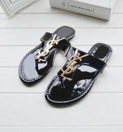 Wholesale Ladies Summers Shoes - New Luxury Brand Women Fashion beach shoes sandals Ladies slippers summer casual slippers flip-flops sandals
