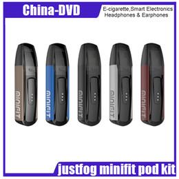Free electronic cigarette en Ligne-Kit de gousses minifit justfog 100% original avec batterie 370mAh et stylo vape Cigarette électronique pour réservoir, tout en un Vaping DHL gratuit