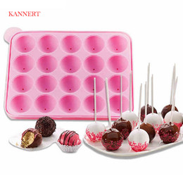 KANNERT Novo Bolo De Silicone De Chocolate Lollipop Lolly Pop Mould Decoração Mold 20 Canudos de