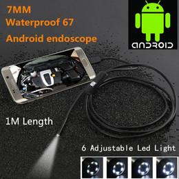 Canada Étanche 480P HD 7mm lentille Inspection Pipe 1m Endoscope Mini USB Caméra Tube de Serpent avec 6 LED Endoscope pour Android Téléphone PC cheap inspection camera endoscope Offre