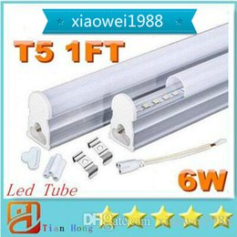 Tubo t5 6w online-Llegada 0.3m 30cm 6W T5 Led luces de tubos integradas 100LM / W SMD 2835 CRI85 Led Tubes Lámpara cálido / natural / blanco frío