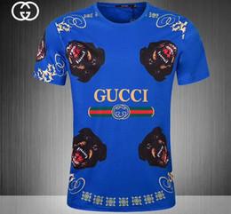 Estilo de camisa da camisa on-line-Alta qualidade 2018 luxuoso novo design de moda de negócios de lazer por atacado verão de manga curta T-shirt estilo de luxo # 143