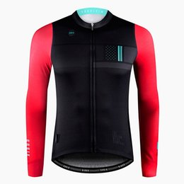 skins clothing Coupons - Spain Winter thermal fleece Cycling Jersey autumn Bike cycling clothes Road MTB fleece longger Sleeve design skin fit