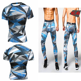bodybuilding suits Australia - Camouflage Short Sleeve T Pity Male Motion Tights Bodybuilding Serve Outdoors T track Suit mens tracksuit tracksuits sweat suits
