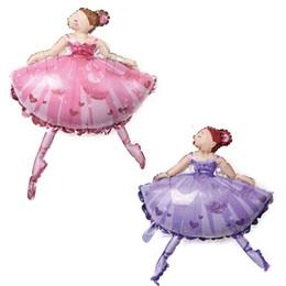 Palloncini per festa di grandi dimensioni Personaggio dei cartoni animati Balletto di danza Ragazza Palloncini foil Decorazione di cerimonia nuziale Decorazioni per feste di compleanno Kids Baby Girl da