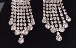 Canada Nouveau cristal de mode à long gland boucles d'oreilles goutte de luxe boucle pour femmes bijoux marque boucles d'oreilles lumière avec des sacs de flanelle pour cadeau Offre