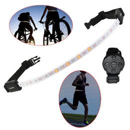 Wholesale cycle bulbs - LED Bike Lights Multifunction USB Recharge LED Reflective Light Belt Cycling Safety Warning Waist Belt Running Outdoor Night Lamp