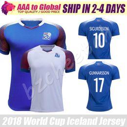 Wholesale Island Shirts - Fyrir Island Soccer Jersey 2018 World Cup Shirt Iceland jerseys 18 19 Best Quality SIGURDSSON GUNNARSSON Football Uniforms