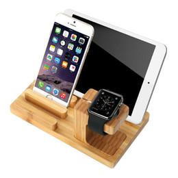 LERO Universel Naturel Bambou Chargeur Dock Berceau Stand Détachable Support de Téléphone pour iPhone Ipad Tablet pour iWatch Desk ? partir de fabricateur