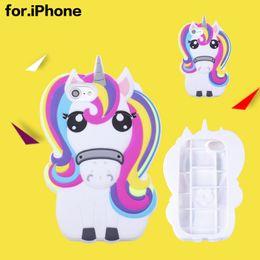 Estuches de silicona para iPhone 8 Unicornio Animales de la historieta iPhone7 Plus cubierta trasera de la carcasa Teléfono móvil Shell iPhone 6s Moda desde fabricantes