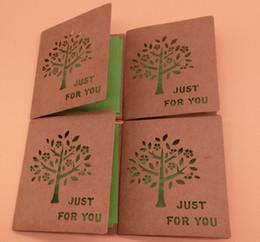 Geschenk-tage aus online-Retro aushöhlen Baum-Gruß-Karten-Gruß-Karten für Geburtstag Weihnachten-Erntedank-neues Jahr Muttertag Fath, Geschenk-Karten 10pcs / pack