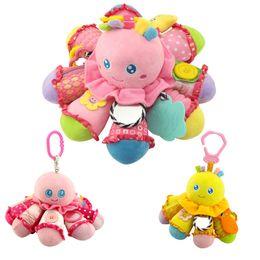 Wholesale Octopus Plush Animals - Happy Monkey Baby Plush Animal Doll Octopus Rattle Crib Hanging Developmental Soft Toys BM88