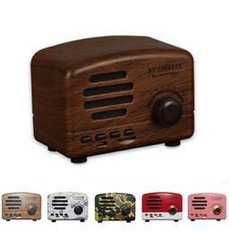 Retro Radio HiFi Lautsprecher Drahtlose Bluetooth Stereo Mini Computer Lautsprecher Außen Subwoofer Super Bass Sound Box FM Radio BT01 von Fabrikanten