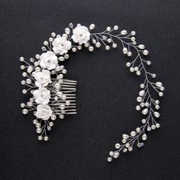 Canada 2018 blanc 34,5 cm Accessoires de coiffure Headpieces Barrettes Faux Pearl pour les accessoires de cheveux de mariage Offre