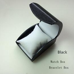 barato relógios de moda de plástico Desconto Caixa De Armazenamento Relógio De Plástico barato Caixa De Relógio Preto Com Travesseiro Moda Luxo Caixa De Ift