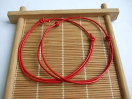 Wholesale Lucky Bracelets For Men - whole sale10pcs Red Genuine Leather Cord Lucky Bracelet Anklet Adjustable For Men Women Surf