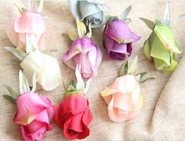 Wholesale Flower Shop Displays - Wedding wall artificial silk velvet rose flower heads forever flower handmade silk floar home gift rose arrangement shopping mall deco