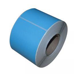 Impresora adhesiva adhesiva online-Últimas 100 * 80 mm cuadrado de la oficina en blanco coloful diect imprimir papel térmico etiqueta autoadhesiva etiqueta adhesiva de la impresora inyectar
