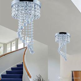 20 / 25cm araña de cristal iluminación de techo lámpara de cristal lámpara de techo montaje lámpara de techo para escalera de pasillo luces del porche desde fabricantes