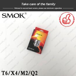 Q2 zerstäuber online-Authentische SMOK TFV8 X-Baby Spulenköpfe M2 Q2 X4 T6 Ersatz-Zerstäuberspulen für Smoktech TFV8 X-Baby Tank 100% Original