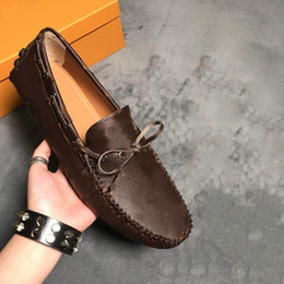Wholesale Men Micro - ARIZONA MOCCASIN fashion Men's shoes High quality brand soft men's driving shoes Size 38-44 model 263952257