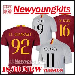 Discount roma shorts - 2018 19 ROMA home soccer Jersey 18 19 away gray  Football uniforms 8d290739f