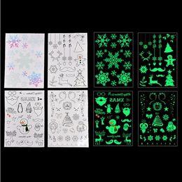 Tatuaggio per natale online-Tatuaggio luminoso natalizio per bambini Tatuaggio falso Incandescente nel buio Adesivi tatuaggio temporaneo impermeabile Decorazioni natalizie