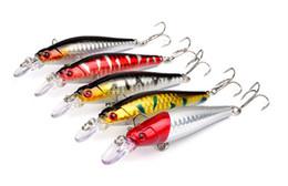 2019 8cm señuelos 5 colores 8 cm 9 g Señuelos de plástico duro Ganchos de pesca Anzuelos 3D Minnow Señuelos de pesca 6 # Gancho Cebo artificial Pesca Pesca rebajas 8cm señuelos