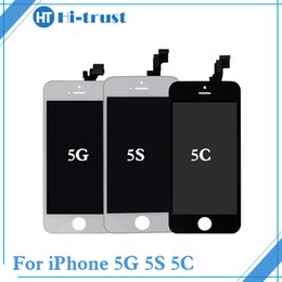 Wholesale Phones Parts - Grade AAA+++ Quality Phone Parts For iPhone 5 5g 5c 5s LCD Display and Touch Screen Digitizer Free DHL Shipping