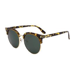 e9ada4d7f8 New Polarized Round Sunglasses Mens Womens Brand Designer Club Round  Glasses Classic Sun glasses Driving Semi Rimless Hipster Eyewear 2018