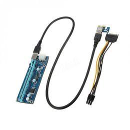 Карты gpu онлайн-6 GPU добыча материнская плата+6 шт. PCI-E Extender Riser Card для BTC Eth Rig Ethereum XXM8