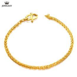 2019 bracelet 999 24 K Pure Or Bracelet Réel 999 Solide Or Bracelet Brillant Charme Belle À La Mode Classique Parti Fine Jewelry Hot Vendre Nouveau 2018 bracelet 999 pas cher
