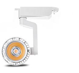 Alta calidad 20W 30W LED Tarck luz AC86V-265V proyector de pista LED riel lámpara de luz spot COB LED iluminación de proyector 6pcs desde fabricantes