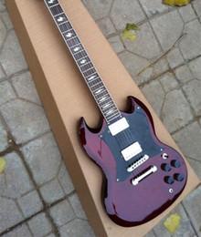 Guitare électrique personnalisée en Ligne-Top Vente Custom Shop Thunderstruck Angus Jeune Vin Signature Vin Rouge Acajou Corps Guitare Électrique Incrustations De Boulons