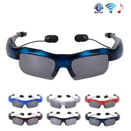 Occhiali da sole a mani libere online-Nuovo k300 Bluetooth auricolare senza fili Bluetooth Occhiali da sole Stereo Music Phone Call Hands free con occhiali da sole Headset Mic Handsfree