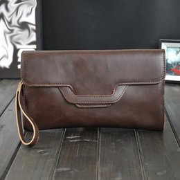 c9f7d274c7b0 2019 Fashion Style Male Day Clutch Bag High Quality PU Leather Men s  Handbag Black Brown Large Hand Bag Luxury Brand For Men