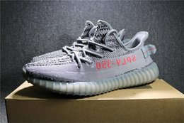 Wholesale Fishing Rubbers - Beluga 2.0 Kanye West Sply 350 Boost Zebra Blue Tint Semi Frozen Yellow Yebra Men Women Zebras Running Shoes Fluorescent green Sneakers