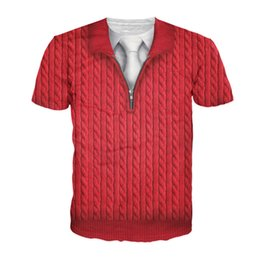 b63b15a323eebe 2018 Summer New Men T Shirts Fake Red Suit Tie Funny Print T-Shirt Men  O-Neck Top Tees Short Sleeve Casual Men s Tshirts