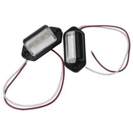 12v llevó luces traseras del remolque online-Piloto trasero Piloto de matrícula Piloto LED Placa de matrícula Fuente de luz de luz 12V 1 par Estilo de automóvil Para camión camión Remolque Camión 3LEDs