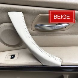 Wholesale Car Interior Door - raw leather car inner door handle cover  car inner door handle cover   car interior trim for BMW Series 3 e90