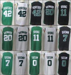 Wholesale Player Style - Boston New Brand Player Style green 11 Kyrie Irving 42 Al Horford 7 Jaylen Brown 20 Gordon Hayward 0 Jayson Tatum Celtics Stitched jersey