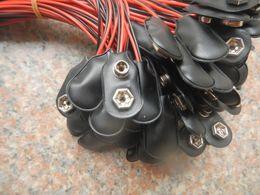 1000Pcs 9 Voltios 9V clip de la batería a presión en los conectores I Tipo de longitud: 15 cm Nuevo (ISP) desde fabricantes