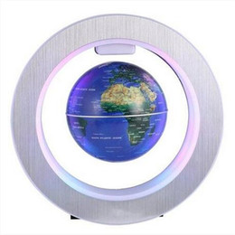 miniature ship models Promo Codes - Free shipping 4 Inch LED World Map Novelty Magnetic Levitation Floating Globe Map Night Lamp Small ornaments&miniature models Novelty Items