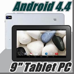 """Azioni di compressione online-DHL 9 9 """"pollici Quad Core Android 4.4 Tablet PC Azioni Doppia fotocamera 512 MB 8 GB Touch Screen capacitivo 1.2 GHZ WIFI Allwinner A33 B-9PB"""